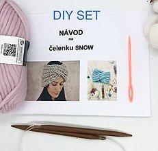 Návody a literatúra - DIY set - čelenka SNOW - 13651777_