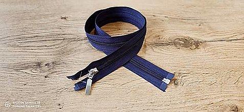 Galantéria - Zips deliteľný 75 cm (Modrá) - 13651477_