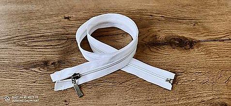 Galantéria - Zips deliteľný 80 cm (Biela) - 13652700_