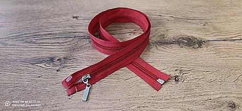 Galantéria - Zips deliteľný 80 cm (Červená) - 13652706_