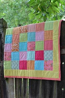 Úžitkový textil - Patchworková deka Alica - 13652393_