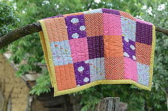 Textil - Patchworková dečka - 13652407_