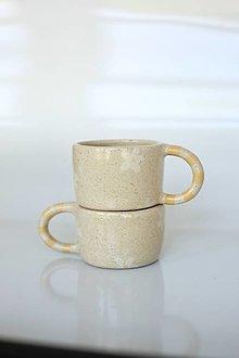 Nádoby - Espresso šálka kvietky - biela - 13651096_