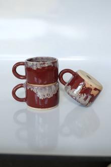 Nádoby - Červená šálka medium - 13651109_