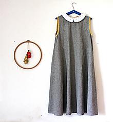 """Šaty - """"Malé čiernobiele"""" ľanové a dospelácke - 13651449_"""