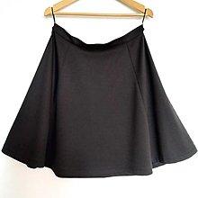 Sukne - Polkruhová sukňa čierna - 13653685_