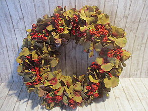Dekorácie - Jesenný veniec - 13655229_