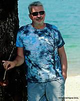 Topy, tričká, tielka - Pánske tričko, batikované, maľované SOLITÉR ♂ - 13655117_