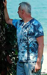 Topy, tričká, tielka - Pánske tričko, batikované, maľované SOLITÉR ♂ - 13655119_