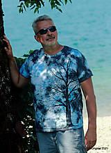 Topy, tričká, tielka - Pánske tričko, batikované, maľované SOLITÉR ♂ - 13655131_