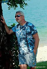 Topy, tričká, tielka - Pánske tričko, batikované, maľované SOLITÉR ♂ - 13655134_
