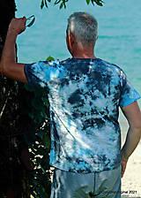 Topy, tričká, tielka - Pánske tričko, batikované, maľované SOLITÉR ♂ - 13655140_
