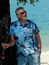 Topy, tričká, tielka - Pánske tričko, batikované, maľované SOLITÉR ♂ - 13655141_
