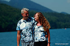 Topy, tričká, tielka - Pánske tričko, batikované, maľované SOLITÉR ♂ - 13655145_