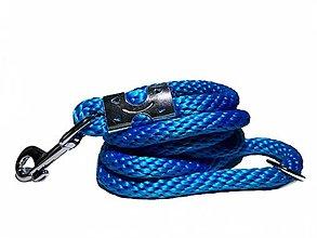 Pre zvieratá - Vodítko modré 14 mm, délka 160 cm - 13656150_