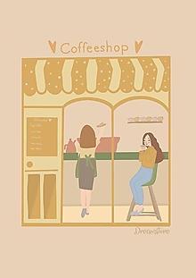 """Grafika - Ilustrácia """" Coffeeshop """" - 13655424_"""