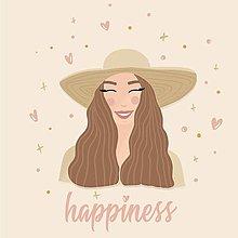 """Grafika - Ilustrácia """"Happiness"""" - 13655531_"""