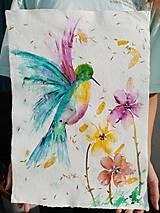 - Akvarel - Kolibrík - 13655235_