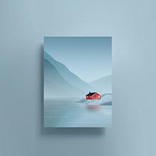 Grafika - Norsko - 13653277_