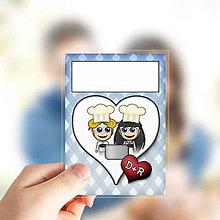 Papiernictvo - (nielen)Valentínske míľnikové kartičky kárované - 13655744_