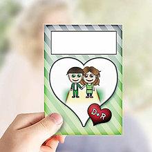 Papiernictvo - (nielen)Valentínske míľnikové kartičky pásikavé - 13655768_