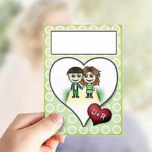 Papiernictvo - (nielen)Valentínske míľnikové kartičky abstraktné - 13655776_