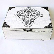 """Krabičky - Drevená krabica- """"Tóny srdca.."""" - 13656665_"""