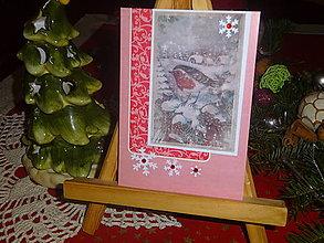Papiernictvo - Vtáčik v zime - 13658868_