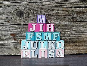 Hračky - kocky s písmenkami na želanie - 13657096_