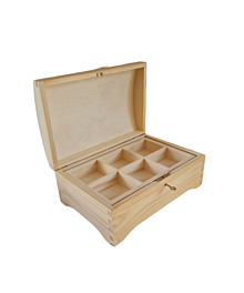 Polotovary - Masívna truhlica s priečinkami a s kľúčikom - 13657480_