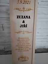 Krabičky - Svadobná gravirovana krabica na víno - svadobný dar - 13657309_