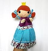 Hračky - Maňuška princezná (v tyrkysovej sukienke) - 13656963_