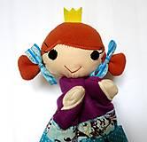 Hračky - Maňuška princezná (v tyrkysovej sukienke) - 13656972_