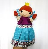 Hračky - Maňuška princezná (v tyrkysovej sukienke) - 13656973_