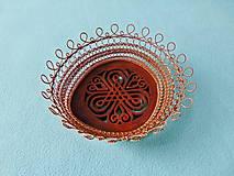 Dekorácie - Drôtovaná miska Dubový ornament - 13657018_