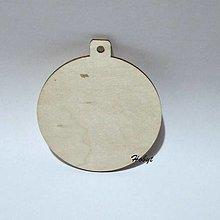 Polotovary - Drevený výrez - vianočná guľa 8 cm - 13659557_