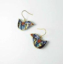 Náušnice - Tana šperky - keramika/zlato - 13657055_
