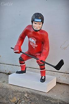 Sochy - Hokejista - socha podľa fotografie - 13659629_