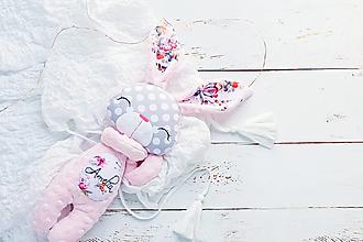 Hračky - Zajačik Baby Pink motýliky - 13656844_