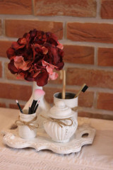 Dekorácie - Jeseň v kúpelni - vintage dekorácia - 13659099_