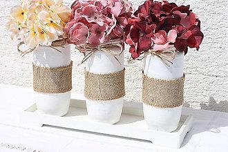 Dekorácie - Jesenná kvetinová dekorácia Hortenzie - 13659246_