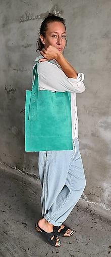 Kabelky - GREEN SHOPPER kožená kabelka - 13657904_