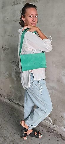 Kabelky - GREEN kožená kabelka - 13658064_