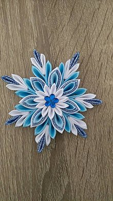Dekorácie - Modrá vločka - 13657024_
