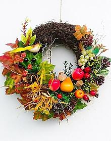 Dekorácie - Jesenný veniec - 13657088_