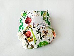 Detské doplnky - Mňam, zeleninka... - Nohavičková plienka Natural + vkladačka na suchý zips - 13658630_