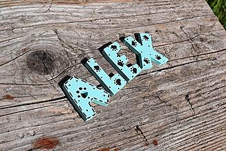 Pre zvieratá - mačacie písmenká s labkami - 13660924_