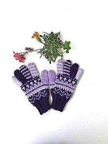Detské doplnky - Detské prstové rukavice fialové - 13660398_