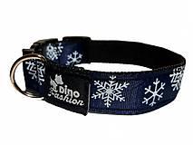 Pre zvieratá - Obojok Christmas tmavomodrý - 13660925_