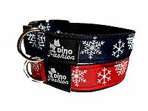 Pre zvieratá - Obojok Christmas tmavomodrý - 13660927_